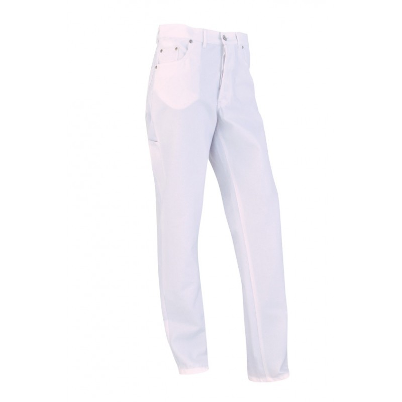 B1CPJ Jean's coton/poly blanc