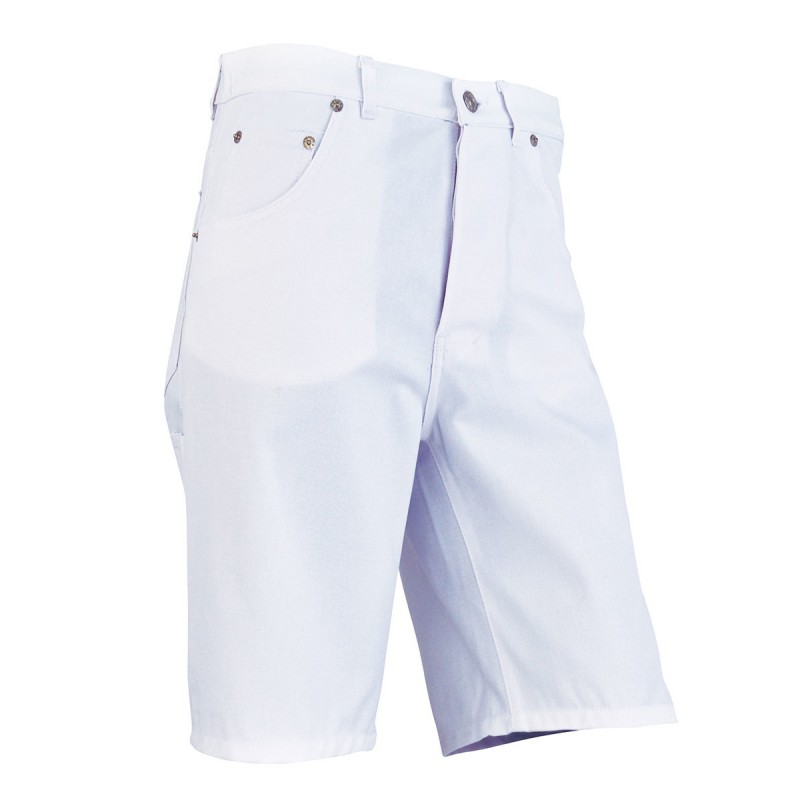 B2CPJ Bermuda jean's blanc