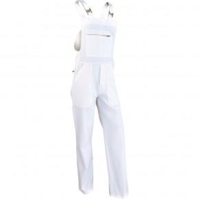 C1CP Cotte à bretelles coton/poly blanc
