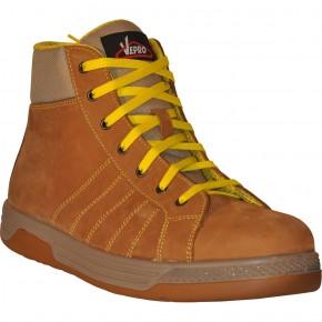 KOUR Chaussures de sécurité hautes cuir nubuck beige S3