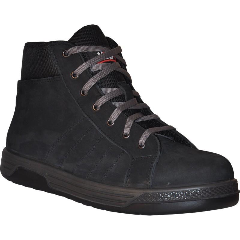 MANI Chaussures hautes cuir nubuck noir S3