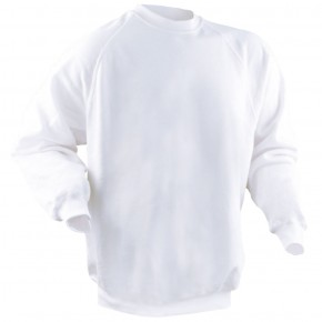 Sweat-shirt blanc col rond emballé