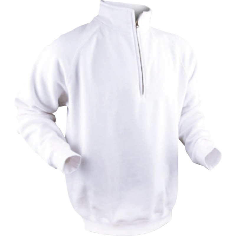 Sweat col zippé emballé