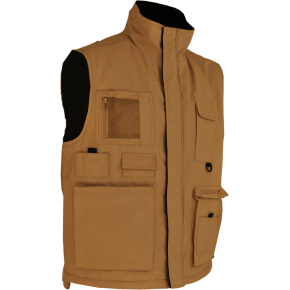 GMPP3 Gilet Multipoches beige doublure polaire